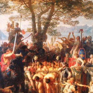 Les Romains passant sous le joug, 1858, Charles Gleyre, Musée cantonal des beaux-arts, Lausanne