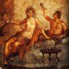 Fresque murale, la villa des Mystères, Pompéi