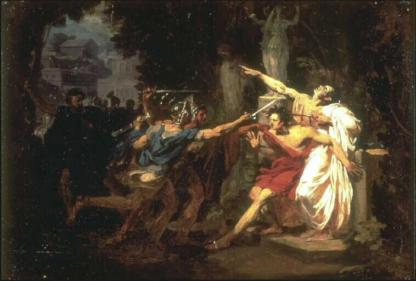 la mort de Caius Gracchus Félix Auvray, 1830, Valenciennes, musée des Beaux-Arts