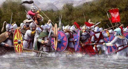 Seconde période de l'invasion; les Francs, les Ostrogoths, les Lombards et les Anglo-Saxons (455-569)