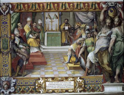 Otto I confirme à Jean XII le don de ses prédécesseurs