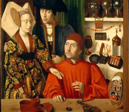 Couple bourgeois chez un orfèvre, par Petrus Christus